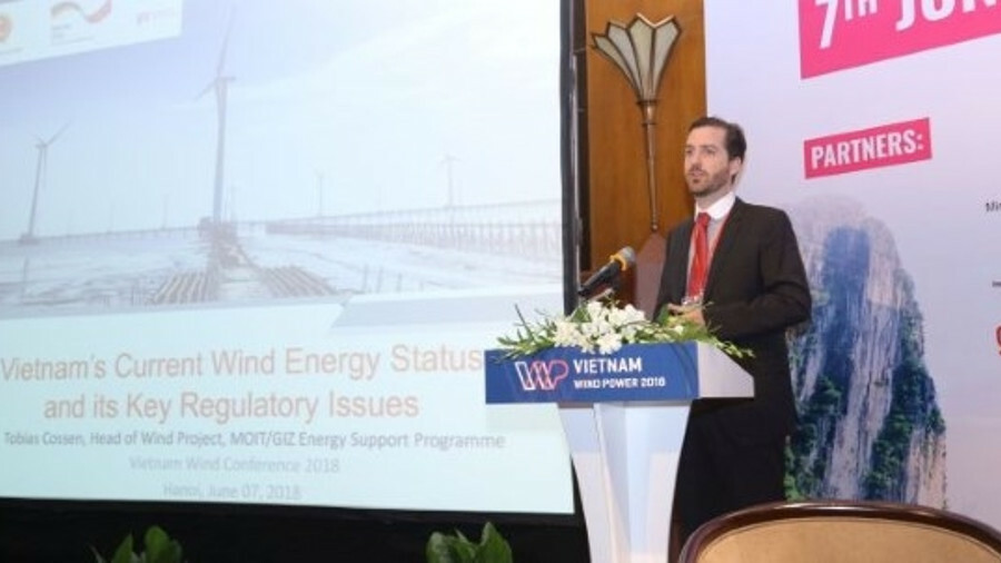 Tobias Cossen told the Vietnam Wind Power conference that Vietnam needs support to develop policy an