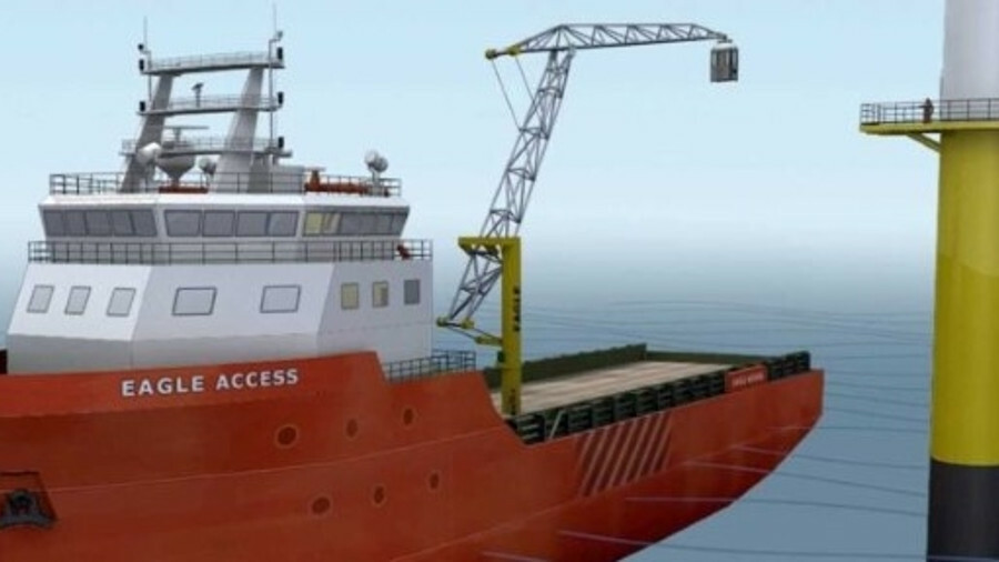 The Eagle Access system is a lifting platform for up to four people or 1 tonne of cargo