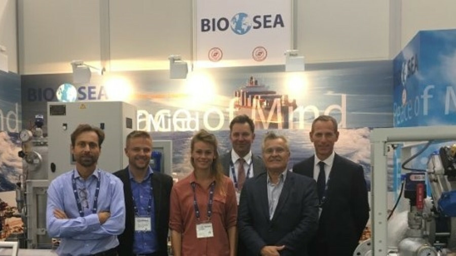 """BIO UV Group president and chief executive Benoît Gillmann, pictured second from right: """"Experiencin"""
