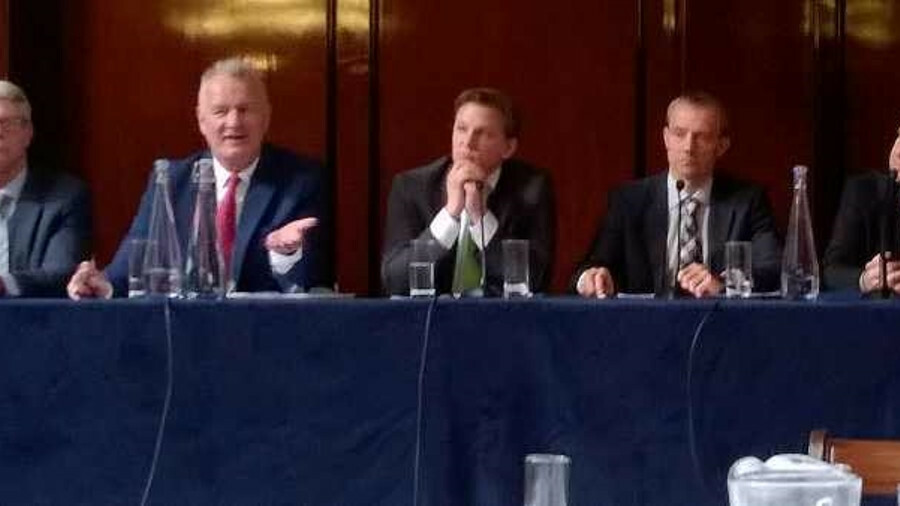 Panel (l-r) Jim Hyslop, Gary Dockerty, Dirk Degroote, Sebastian Schwarz, Jonas Granath