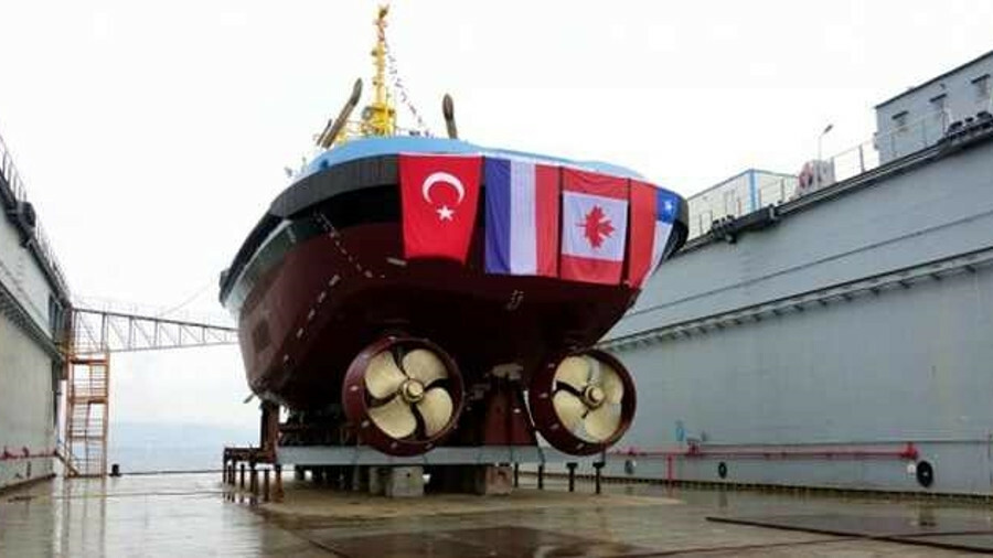 Uzmar launched an escort tug for SAAM Smit Canada's LNG terminal operations