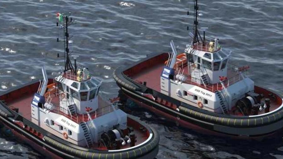 Damen will supply two ASD 2411 design tugs to Rimorchiatori Spezzini in H1 2019