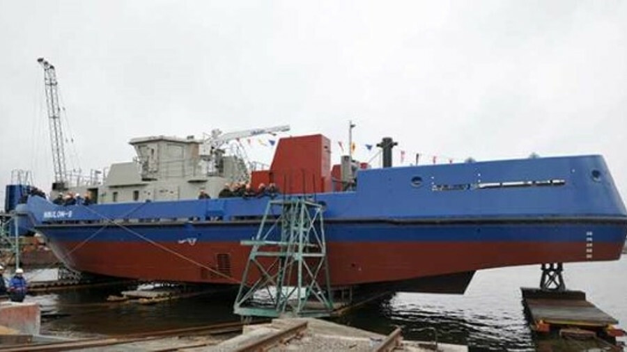 Nibulon-9 was built to escort convoy of vessels along the Dnipro River