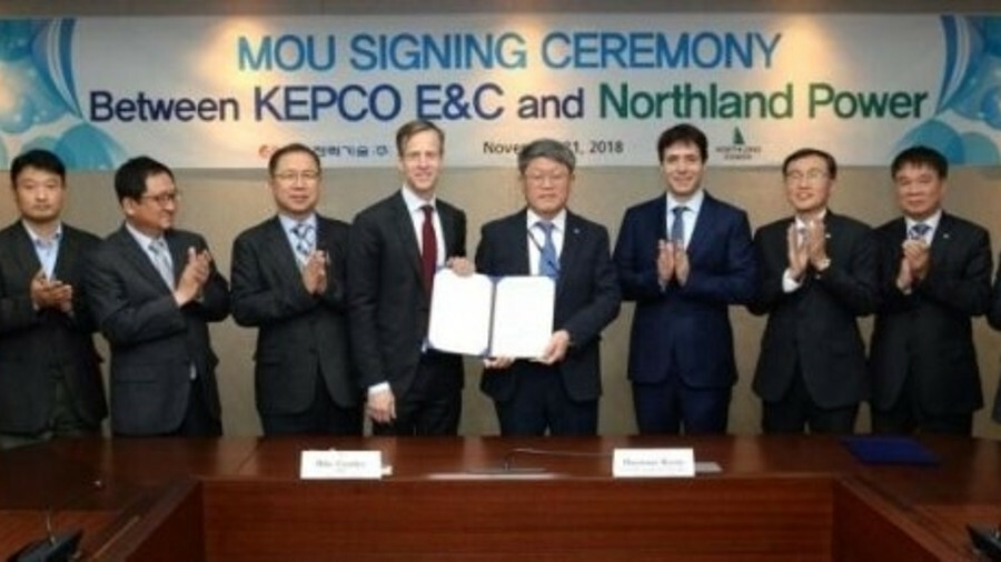 Northland Power and Kepco plan to work together on floating offshore wind projects in South Korea an