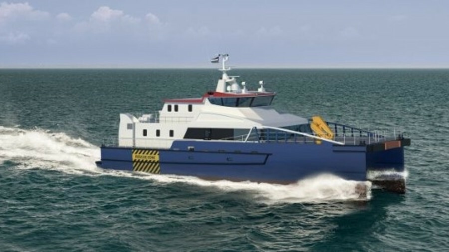 The fast crew supplier 3410 service accommodation and transfer vessel is derived from Damen's Twin A