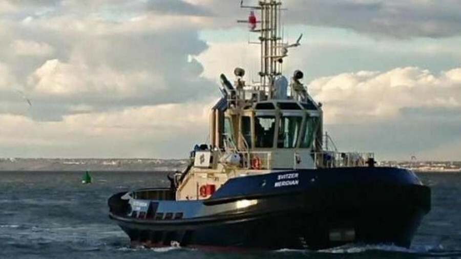 Svitzer Meridian is an ATD tug operating in the Port of London, UK