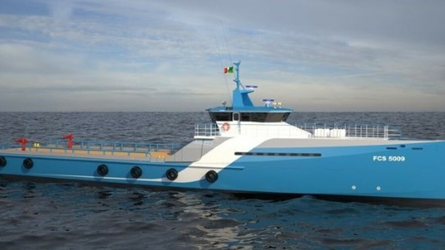 The vessel will be the 15th of its type to bear Naviera Integral's livery (credit: Damen)