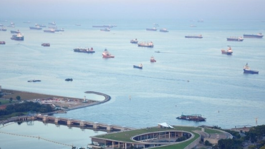 "Singapore is one of the world's busiest ports (photo by Paul Scott, <a href=""https://www.flickr.com/"