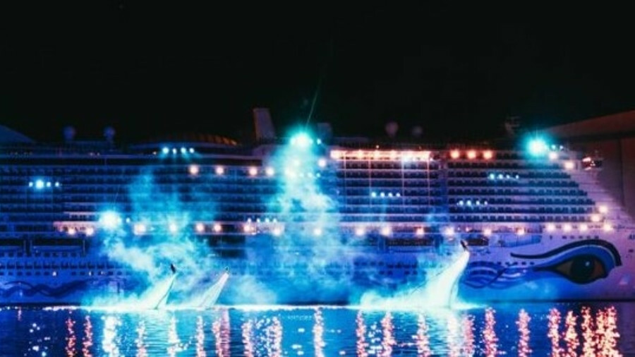 AIDANova, the first LNG-fuelled cruise ship, hits the water in a spectacular ceremony (credit: Aida)