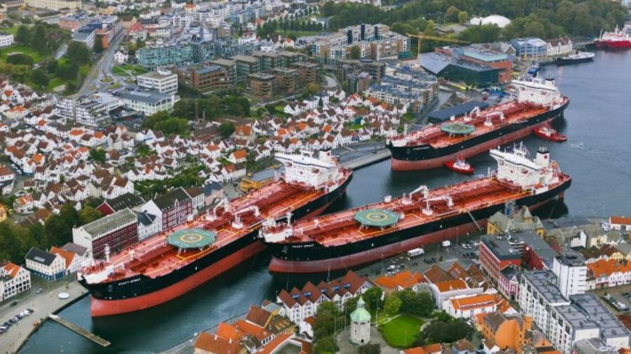 Shuttle tankers at a naming ceremony in Stavanger, Norway (Source: Teekay)