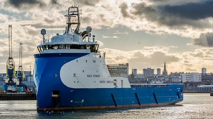 NAO Power is one of Nordic American Offshore's ten Norwegian-built PSVs (credit:  Alan Jamieson/Wiki