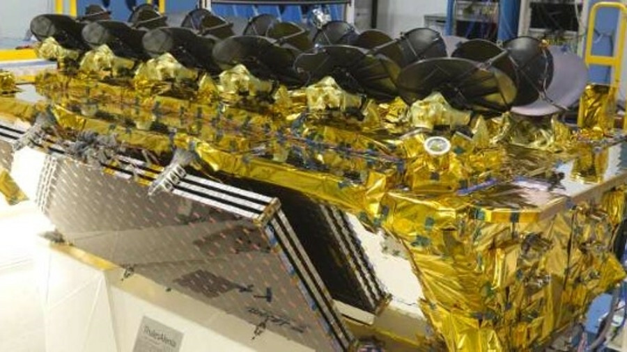 One of four O3B satellites being prepared in Italy to be shipped to the launch site