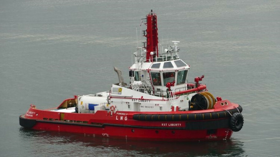 KST Liberty is a dual-fuel tug, operated by Keppel Smit Towage in Singapore, for terminal and harbou