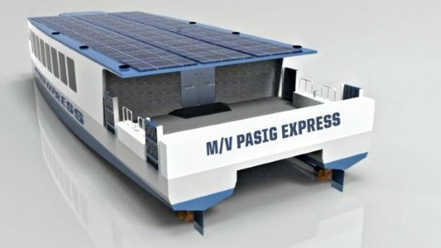 The WFSA winning team designed Pasig Express, an aluminium-hulled catamaran, with hybrid propulsion