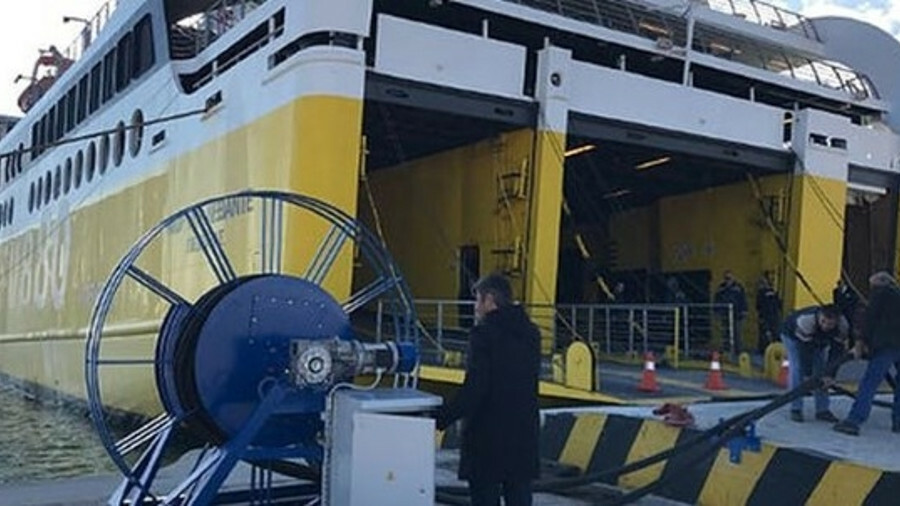 Levante Ferries' Fior de Levante is the first vessel to plug into Killini port's cold ironing facili