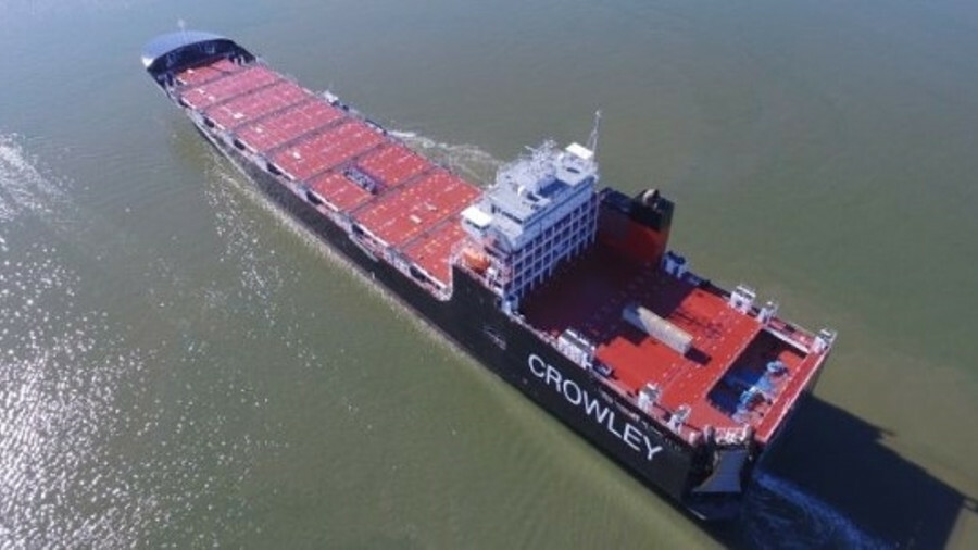 Taino is the second of Crowley Maritime's LNG-powered container/roro vessels