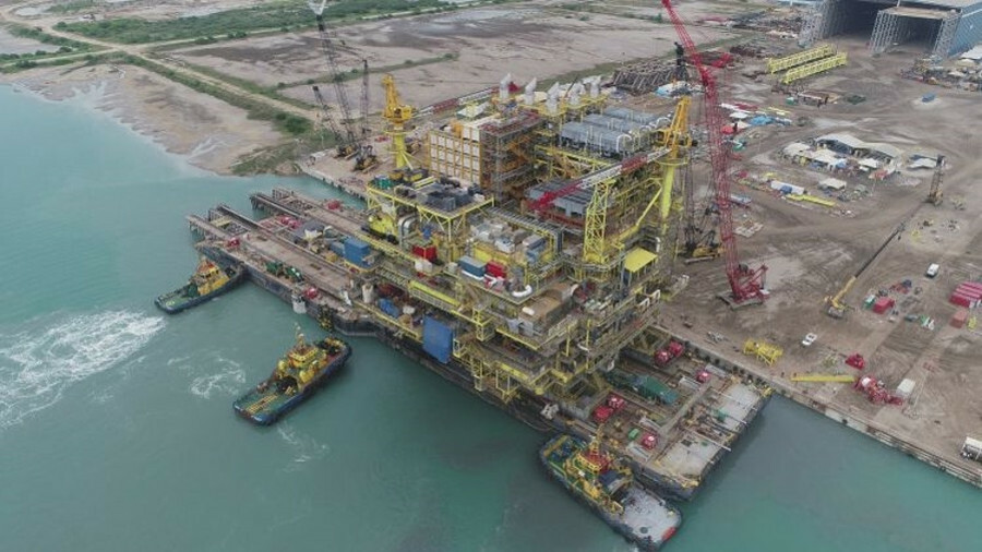 McDermott fabricated, transported and installed the PB-Abkatun-A2 platform for Pemex in Mexico in Q4