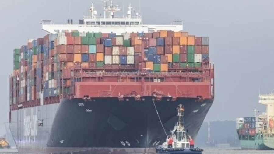 Crew were evacuated from a Hapag-Lloyd box ship after a fire broke out in one container and spread t
