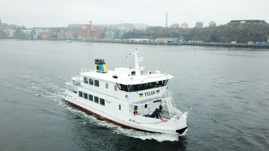 Waxholmsbolaget has added an ice-going hydrid battery ferry to its fleet (credit: Danfoss Editron we