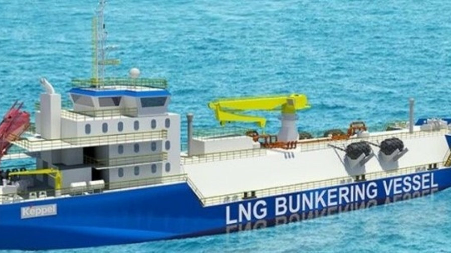 An artist's impression of Shturman Koshelev's ice-class LNG bunker vessel