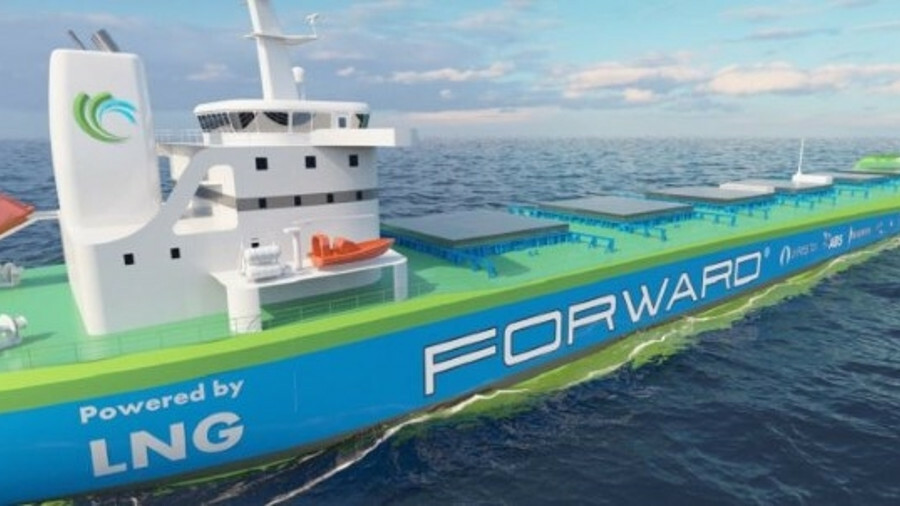 Project Forward's gas-fuelled design challenges conventional bulk carrier arrangements