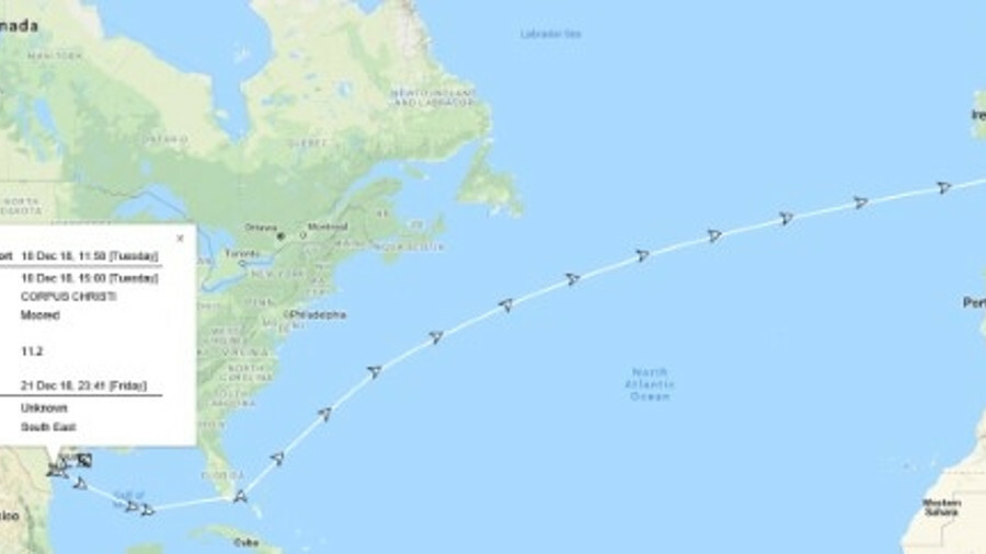 Europe receives the first-ever VLCC crude oil cargo from the US