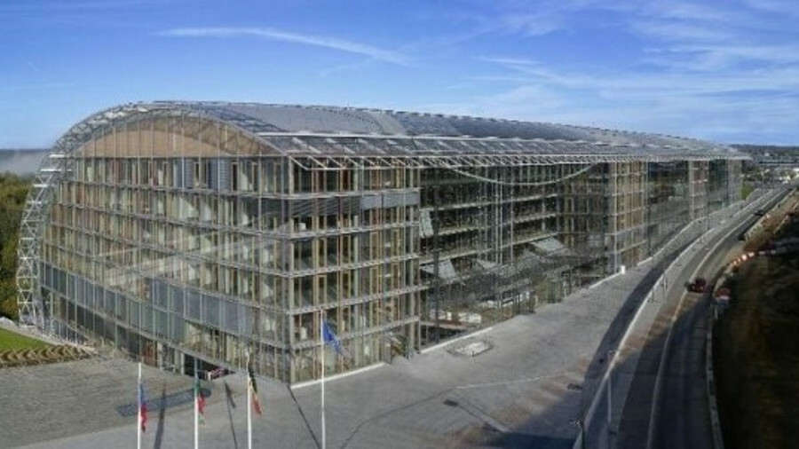 The EIB - whose headquarters is shown here - has regularly helped finance green energy projects such