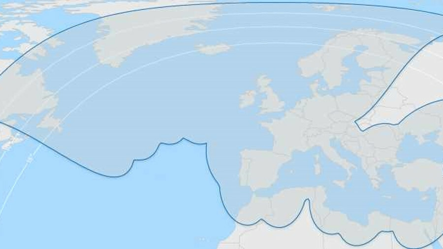 Anker Ka-band coverage from the far North to the Mediterranean and NE Atlantic