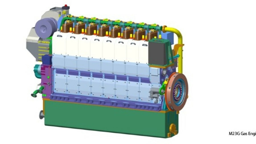 A spark-ignited, lean-burn, pure gas engine designed in China is ready for service (credit: SMDERI)