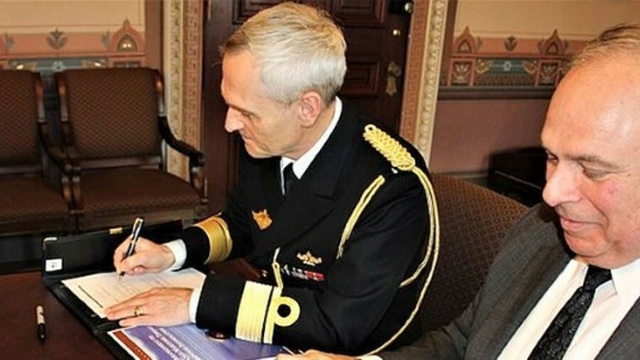 The arrangement was signed by Norwegian Defence Attaché rear admiral Ole Morten Sandquist and US Glo
