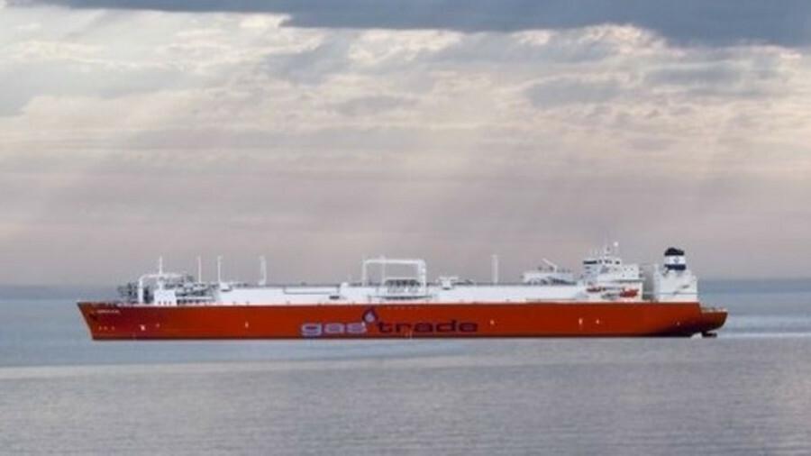 A Gastrade LNG carrier at Alexandroupolis