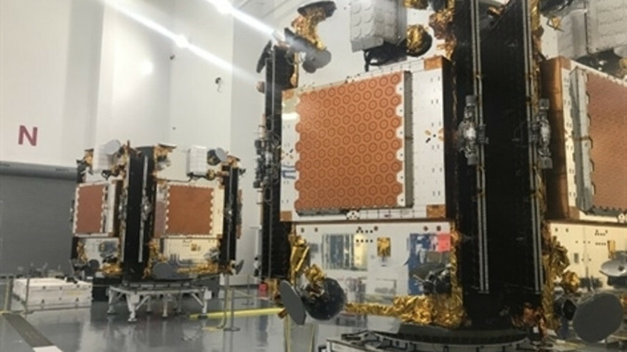 Iridium satellites are integrated before being launched in 2018