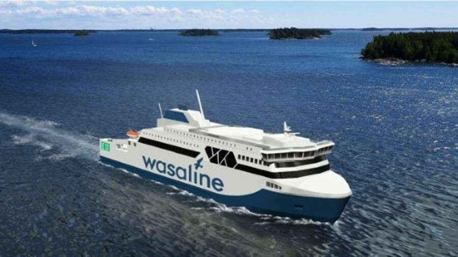 An artist's impression of the new ferry to be built by Rauma Marine Construction (credit: RMC)