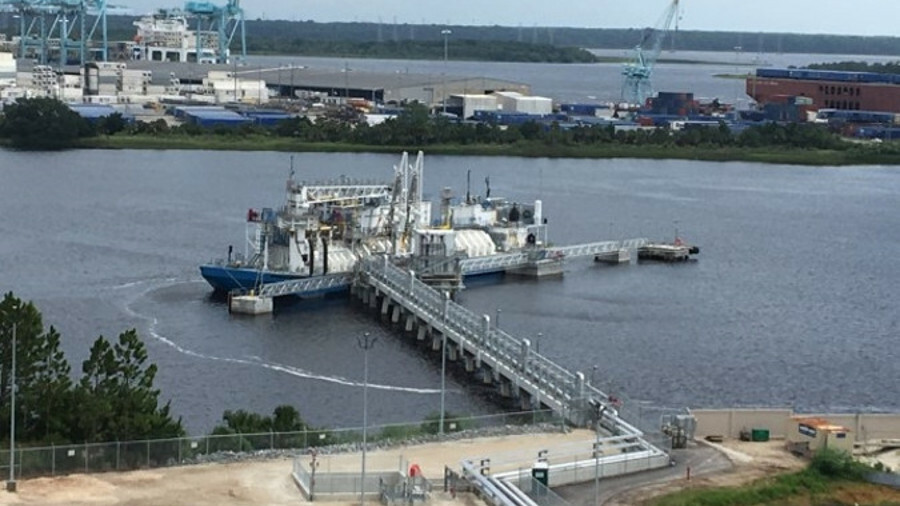 TOTE's Marlin-class vessels are being fuelled by the the first LNG bunkering barge in the US