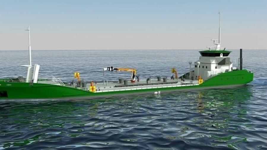 Asahi Tanker and Exeno-Yamamizu Corporation's all electric e5 bunker tanker design