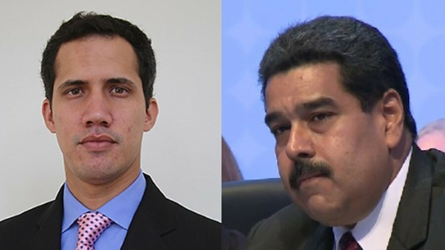 Juan Guaidó (left) and President Maduro (right): Tanker operations continue despite the political tu