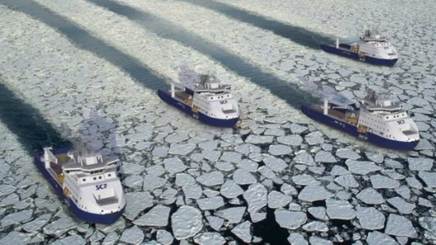 Yevgeny Primakov is one of four vessels designed to withstand ice conditions and minimise environmen