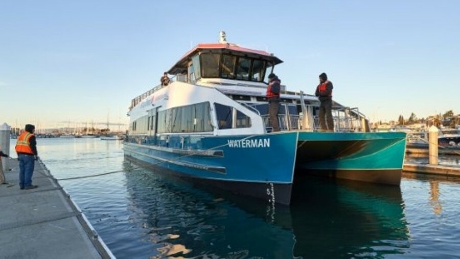 Kitsap Transit's new catamaran is the first hybrid-electric passenger ferry in Puget Sound