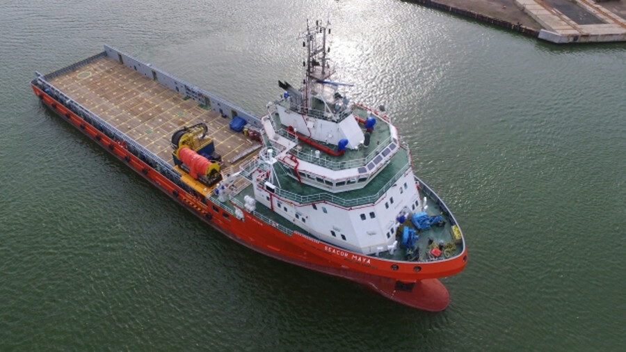Seacor worked with Kongsberg to convert its Seacor Maya vessel to hybrid power