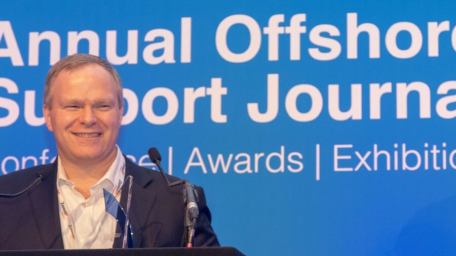 Seacor Marine Holdings chief executive John Gellert also received the OSJ Shipowner of the Year 2019