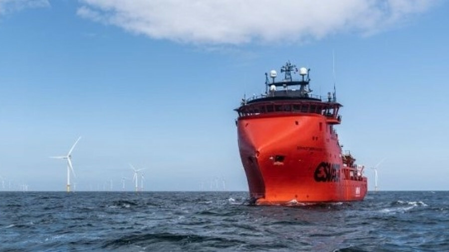 EWPL Ocean's blade inspection service uses drones flown from Esvagt's vessels combined with AI appli