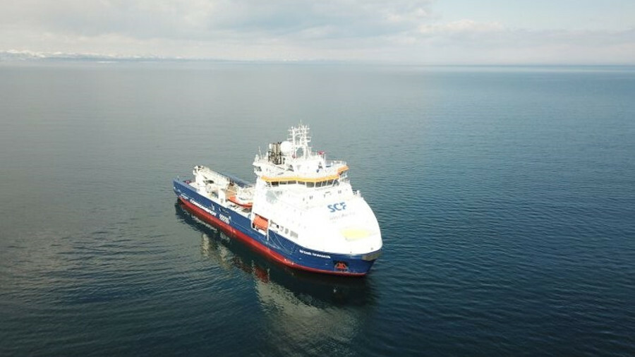 The icebreaking standby vessel Yevgeny Primakov is one of 80 vessels in Sovcomflot's fleet that has