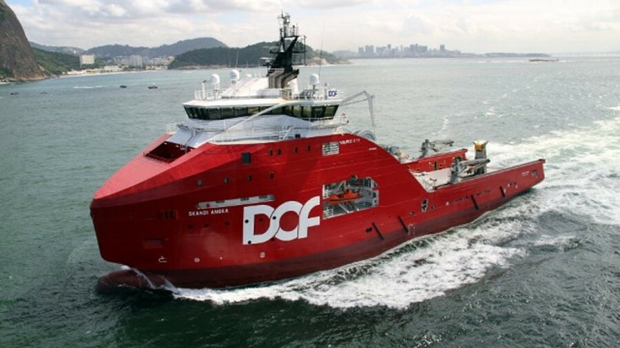 The DOF Group's anchor-handler Skandi Angra is currently working in Brasil