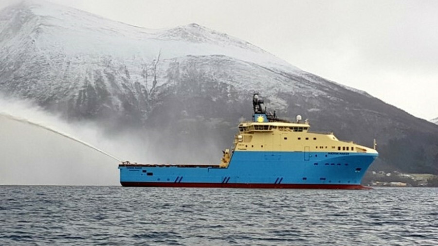 Maersk Maker, the last of six Starfish class anchor handlers, completes Maersk Supply Service's flee