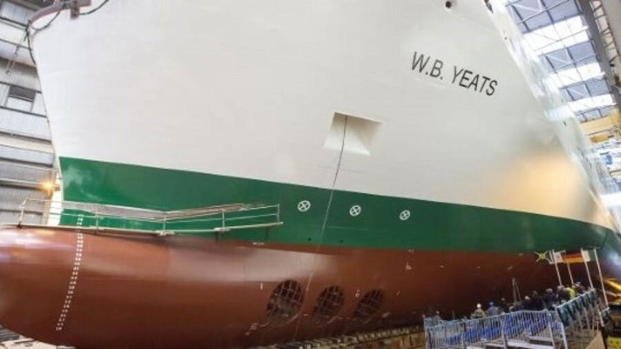 Upgrade work on Irish Ferries' Ulysses included new propellers, rudder components and a full refurbi