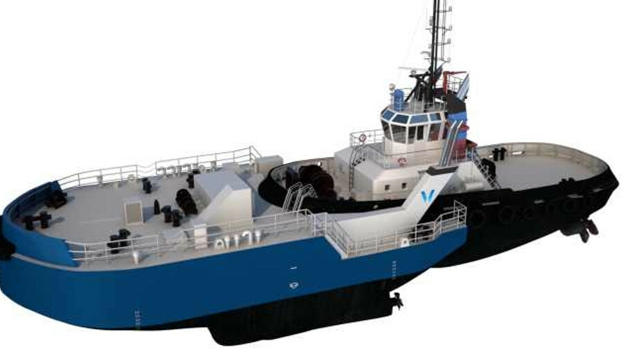 Removable bow converts a tug into an icebreaker