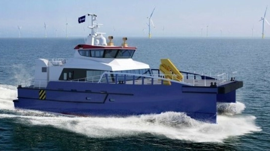 Hung Hua Construction in Taiwan has ordered two Damen FCS 2710 crew transfer vessels