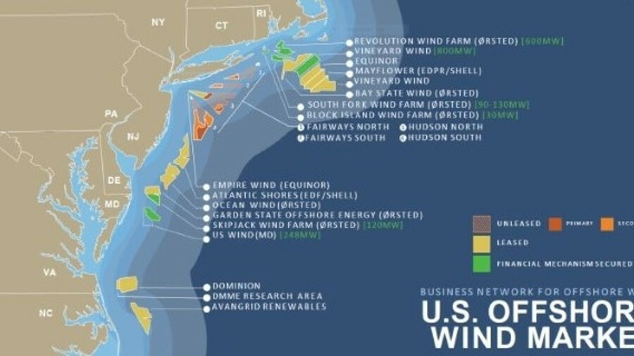 The US offshore wind market has taken off along the country's northeast coast but there is plenty of