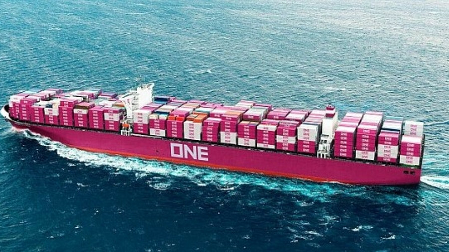 ONE took delivery of 14,000 TEU container ship ONE Grus in February 2019 (credit: Ocean Network Expr
