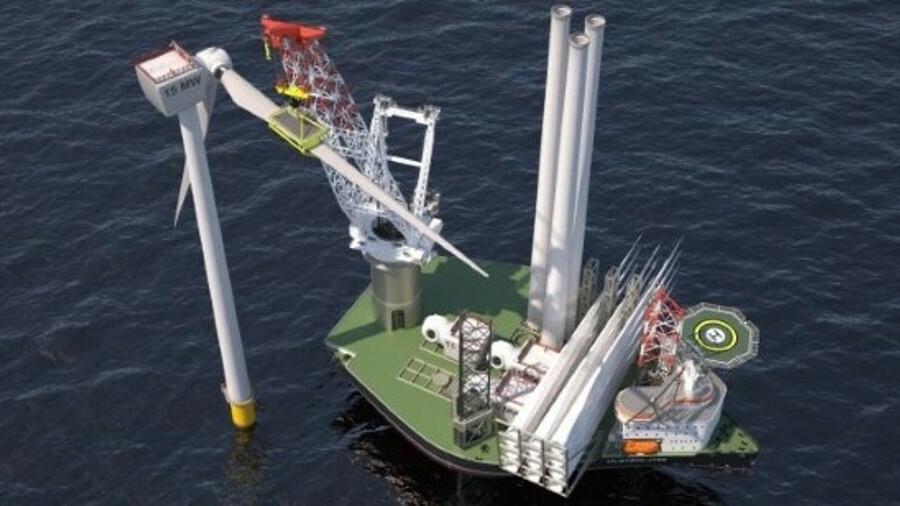 Ulstein Design & Solutions' Ulstein J102 heavy lift jack-up is intended as a fit-for-purpose, cost-e